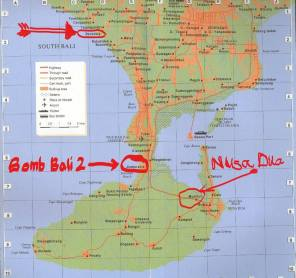 Bombing map