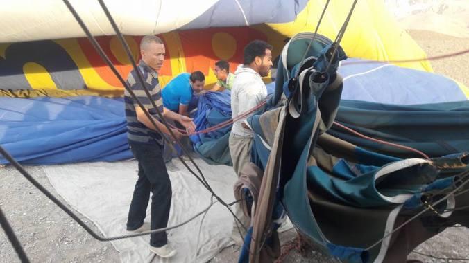 Luxor Ballon Landing Crew